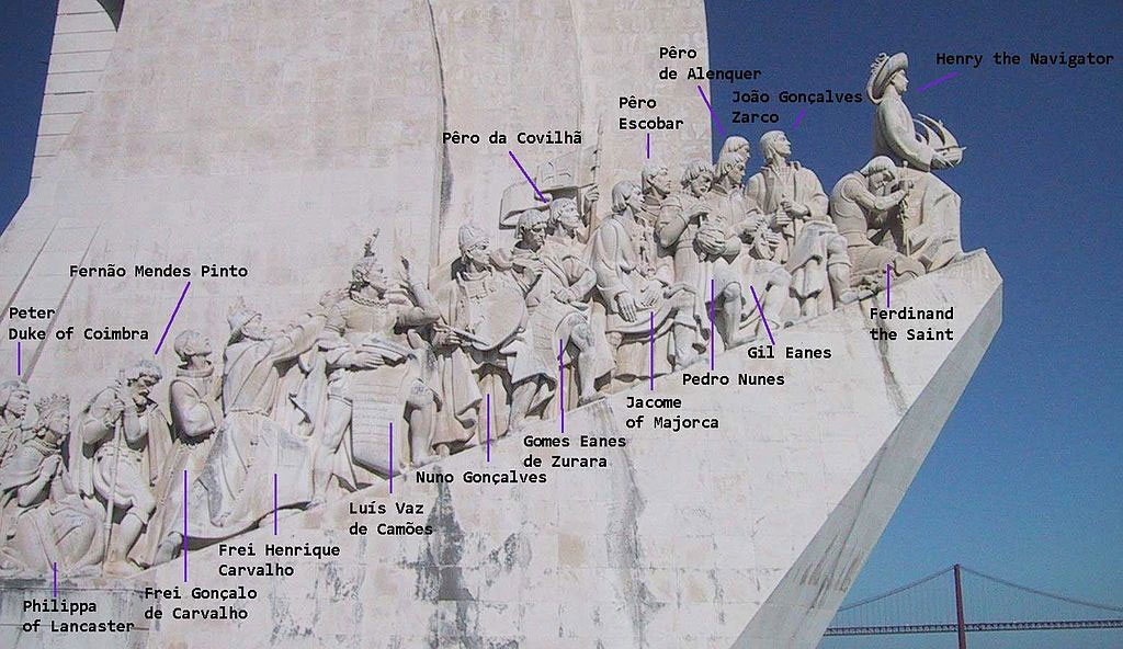 Queen Philippa of Lancaster who is immortalized on the Monument of the Discoveries